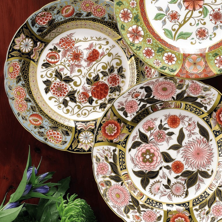 PINK BOUQUET PLATE (BOXED)