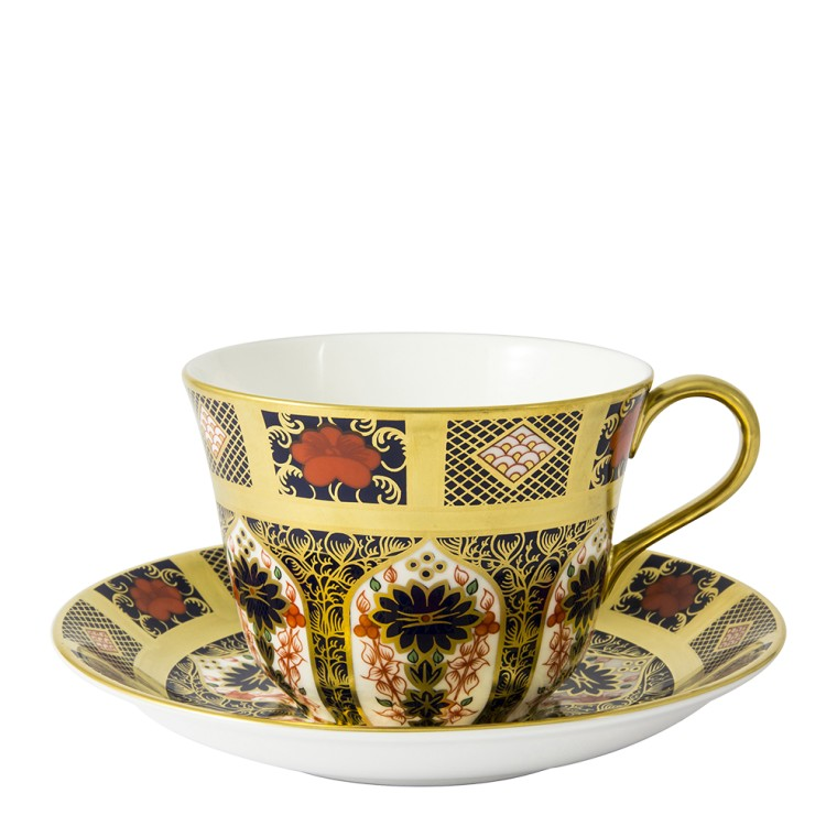 OLD IMARI SOLID GOLD BAND - BREAKFAST SAUCER