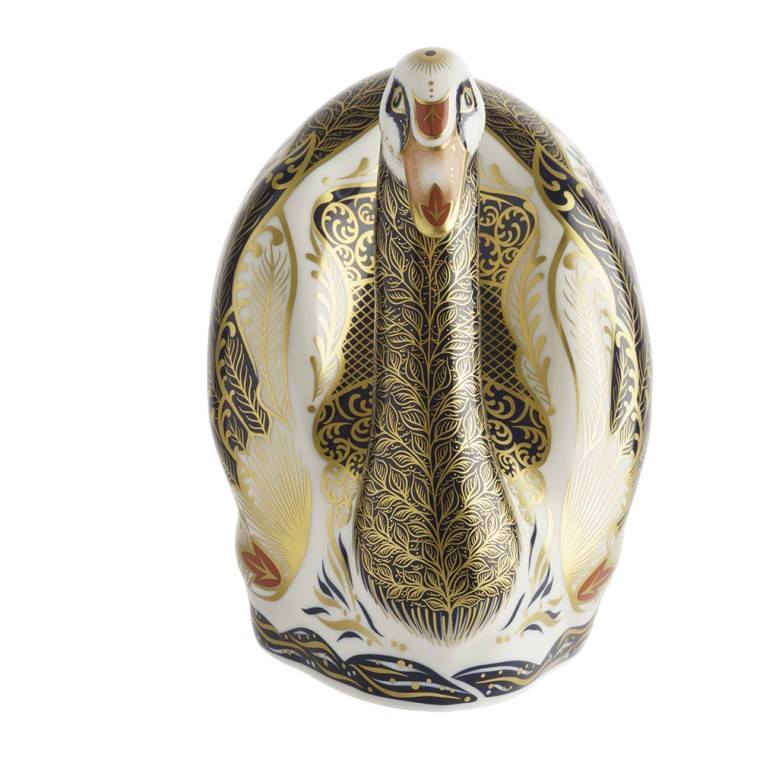 OLD IMARI SOLID GOLD BAND SWAN