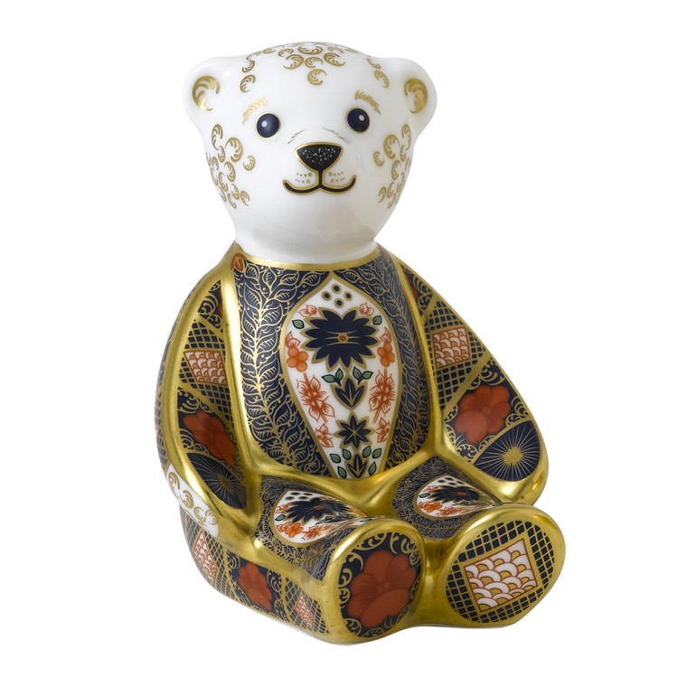 OLD IMARI SOLID GOLD BAND BEAR