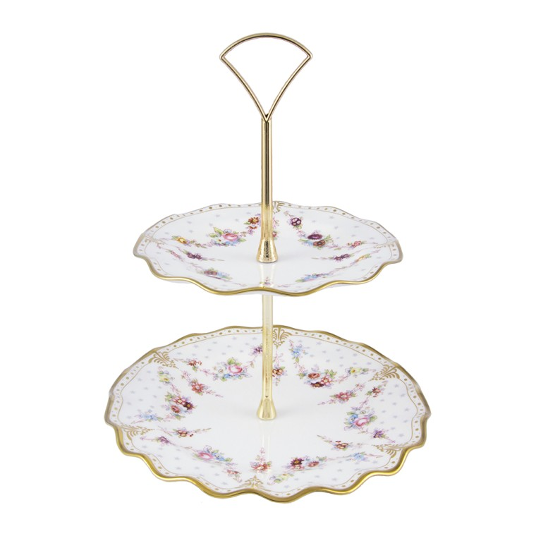 ROYAL ANTOINETTE - CAKE STAND - 2 TIER