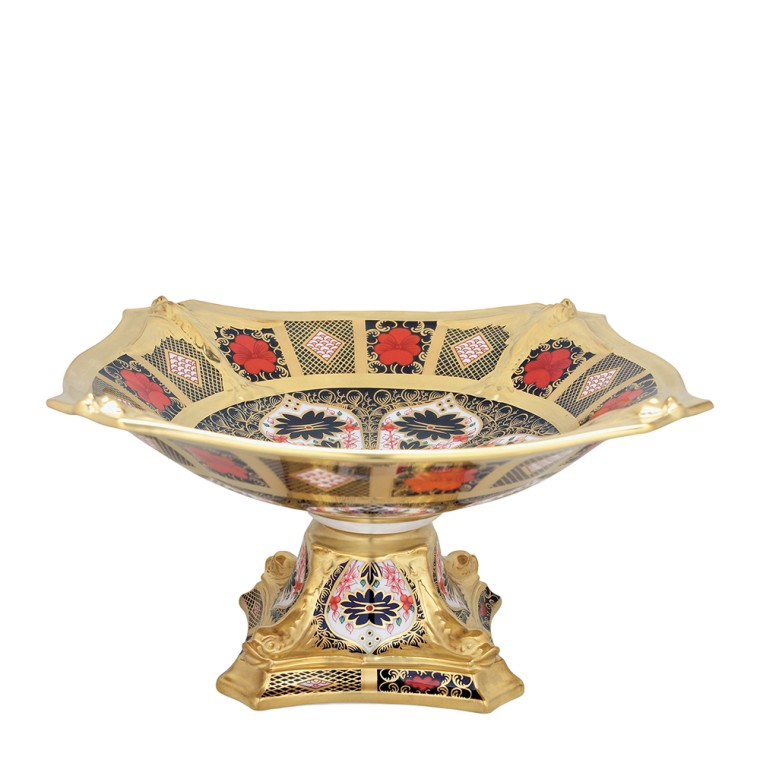 OLD IMARI SOLID GOLD BAND - DOLPHIN CENTRE PIECE