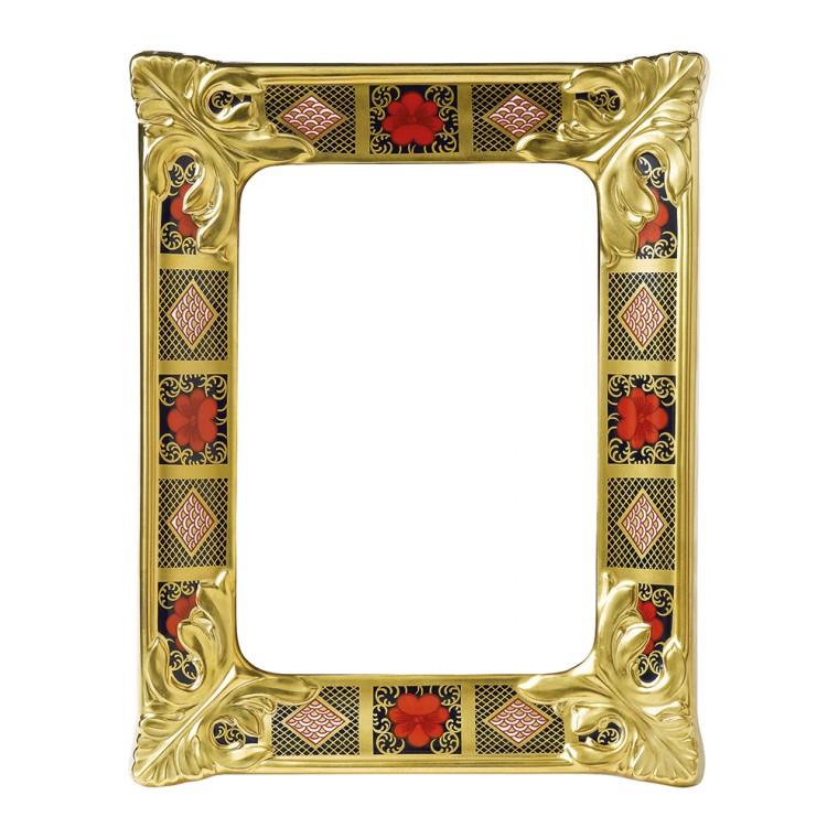 OLD IMARI SOLID GOLD BAND - PICTURE FRAME SMALL