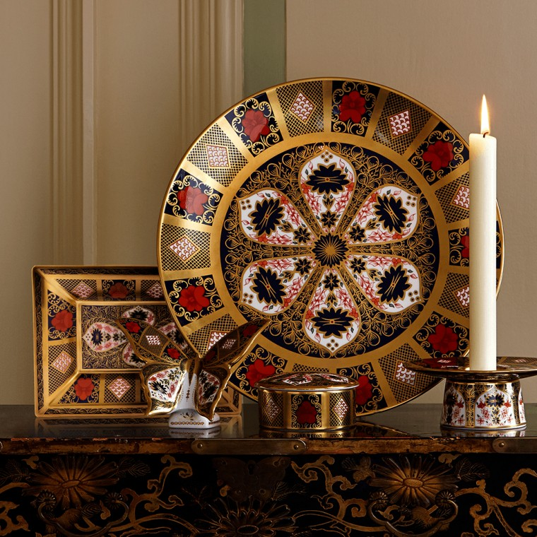 OLD IMARI SOLID GOLD BAND - RECTANGLE TRAY