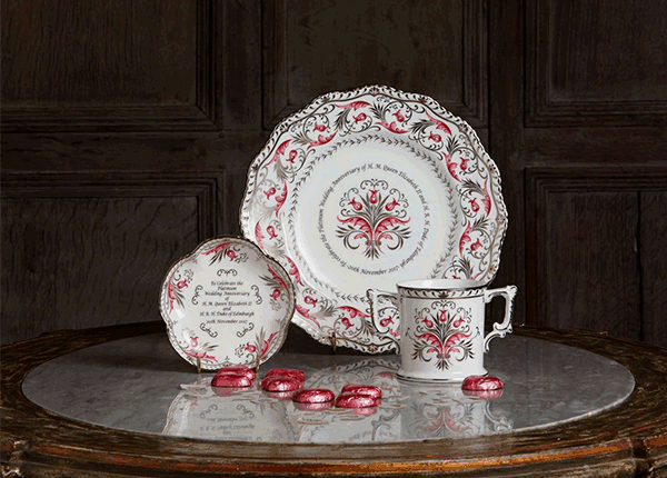 Queen's Platinum Wedding Anniversary Commemorative Collection - Royal Crown Derby