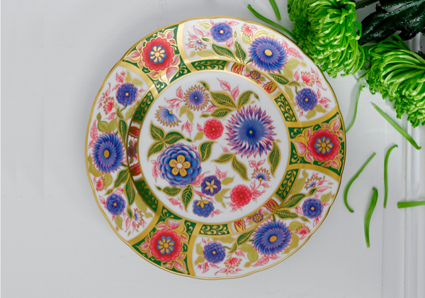 Imari Accent Kyoto Garden Plate - Royal Crown Derby