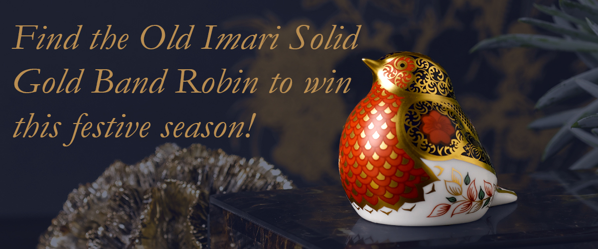 Find the Old Imari Solid Gold Band Robin - Royal Crown Derby