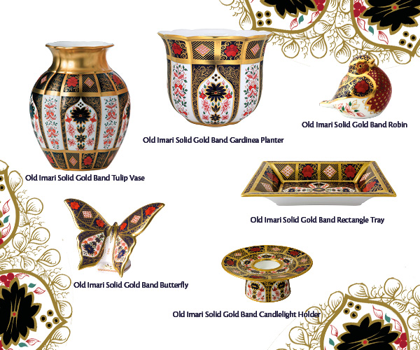 Old Imari Solid Gold Band Giftware - Royal Crown Derby